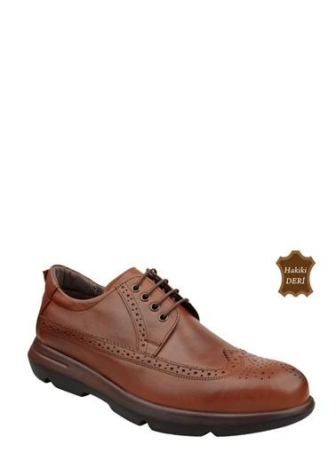 Wolfland Bağcıklı Oxford Ayakkabı Taba